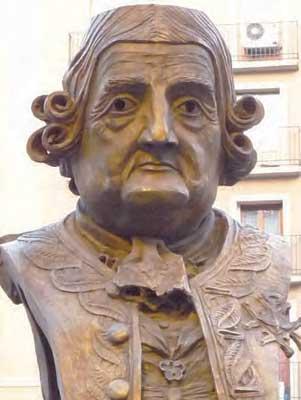 Busto del Conde de Arana en Zaragoza