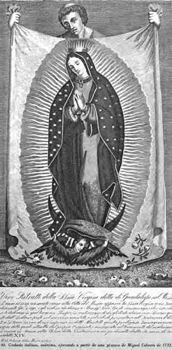 Grabado italiano anA?nimo a partir de una pintura de Miguel Cabrera, 1732