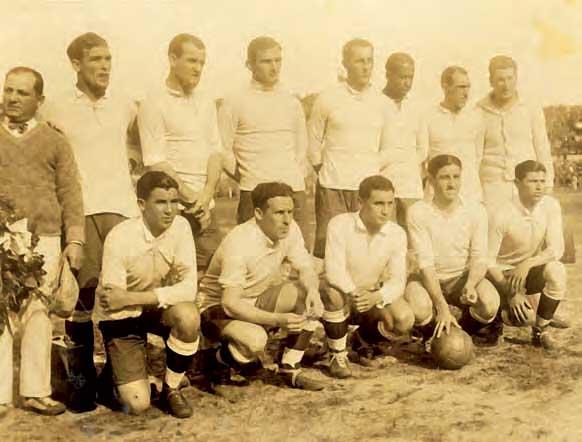 La selecciA?n uruguaya en la final del Mundial de FA?tbol, 30 julio 1930