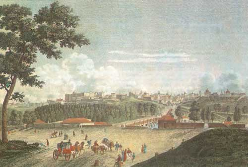 Vista de Madrid, siglo XVIII