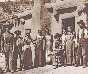 Familia hispana en Colorado a fines del siglo XIX