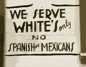 We serve whites only