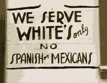 We serve whites only