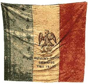 Bandera de las tropas mexicanas en Cerro Gordo