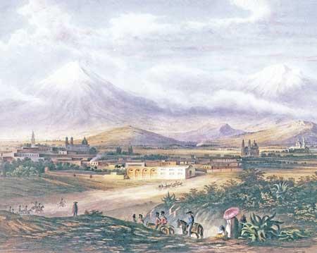 Egerton, Paisaje de Puebla, 1840