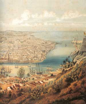 Vista de la Habana, siglo XIX, E. Leplante (detalle)