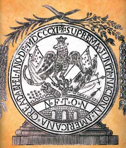 Escudo de la Suprema Junta Nacional Americana