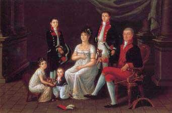 el Virrey Iturrigaray y su familia