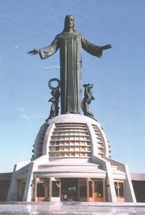 DedicaciA?n del monumento a Cristo Rey 11 de enero 1938. Instituto Mora