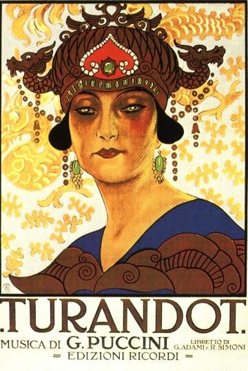 Poster Turandot, 1926, Mushii
