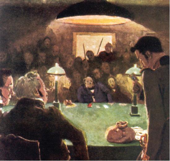 """Alexandre Benois, """"En la casa de juego"""" (1910)"""