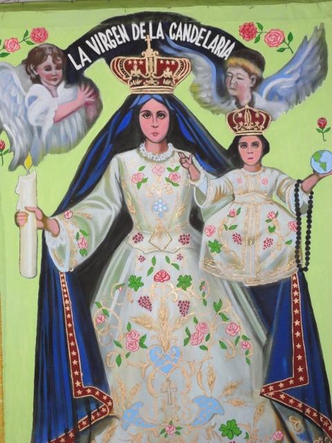 Virgen de la Candelaria Oaxaca, Tehuentepec-Arte callejero, Fot. Anónimo (480x640)