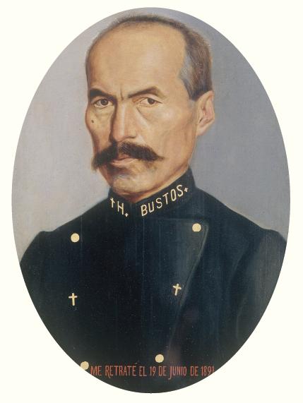 Hermenegildo Bustos, Autorretrato, 1891, MUNAL