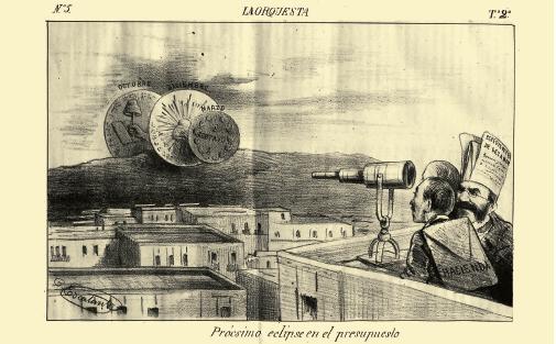 """""""Presupuesto del Imperio"""", La Orquesta, 17 enero de 1866."""