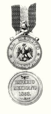 Establecimiento de medallas para premiar el mAi??rito militar, 15 de octubre de 1863