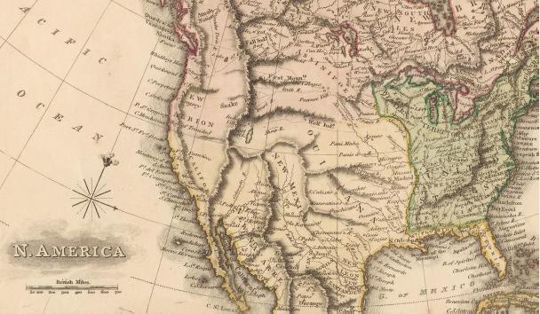 Samuel John Neele, North America (detalle), 1813.