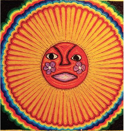 Huichol_string_art_sun‒WIKICOMMONS