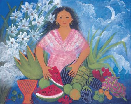 Vendedora de frutas, Julia LA?pez
