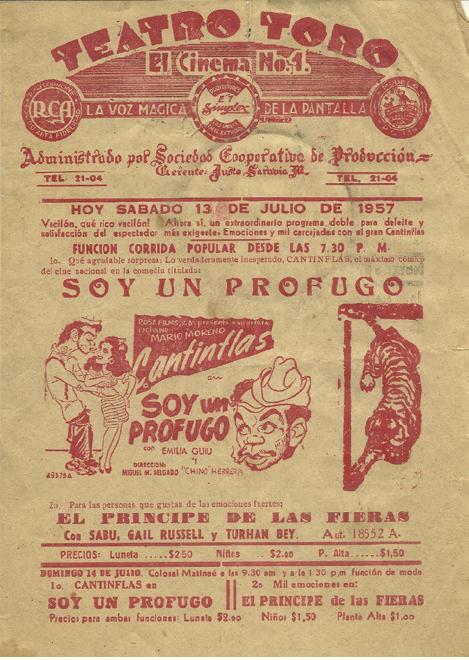 Cartel del Teatro Toro de 1857. Col. JosAi?? Manuel Alcocer BernAi??s
