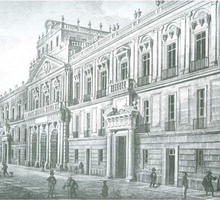 Pedro Gualdi, Colegio de MinerAi??a, Monumentos de MAi??xico, MAi??xico, Decaen, 1841