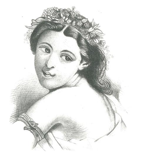 La pintura. De una revista del siglo XIX. Col. Ma. Esther PAi??rez Salas