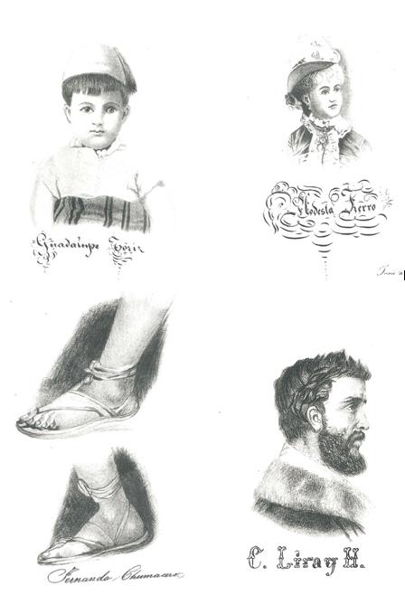 Las alumnas de la clase de dibujo del Colegio de NiAi??as del Estado de Tlaxcala dedican esta colecciA?n a su digno fundador el seAi??or J. Mariano Grajales como un recuerdo de gratitud, Tlaxcala, 1886