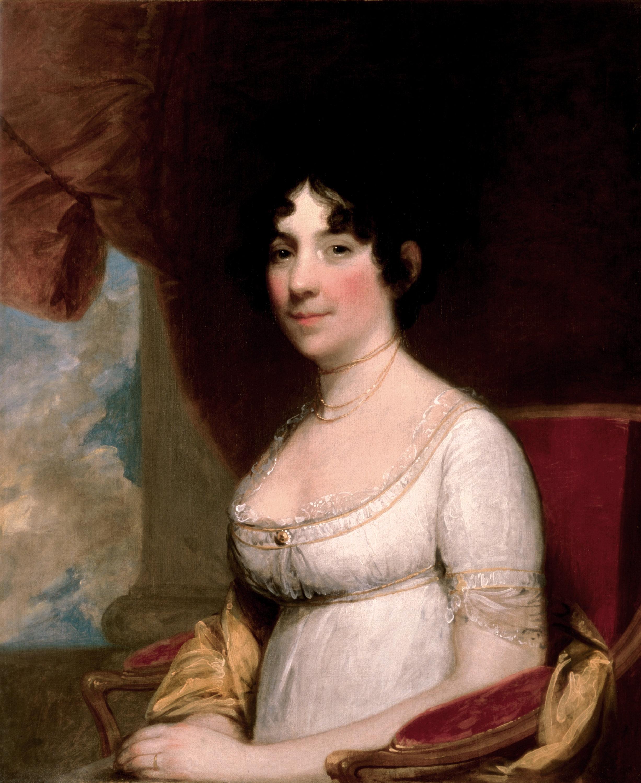 [4.1] Gilbert Stuart, Dolley Maddison, 1804. Wikicommons