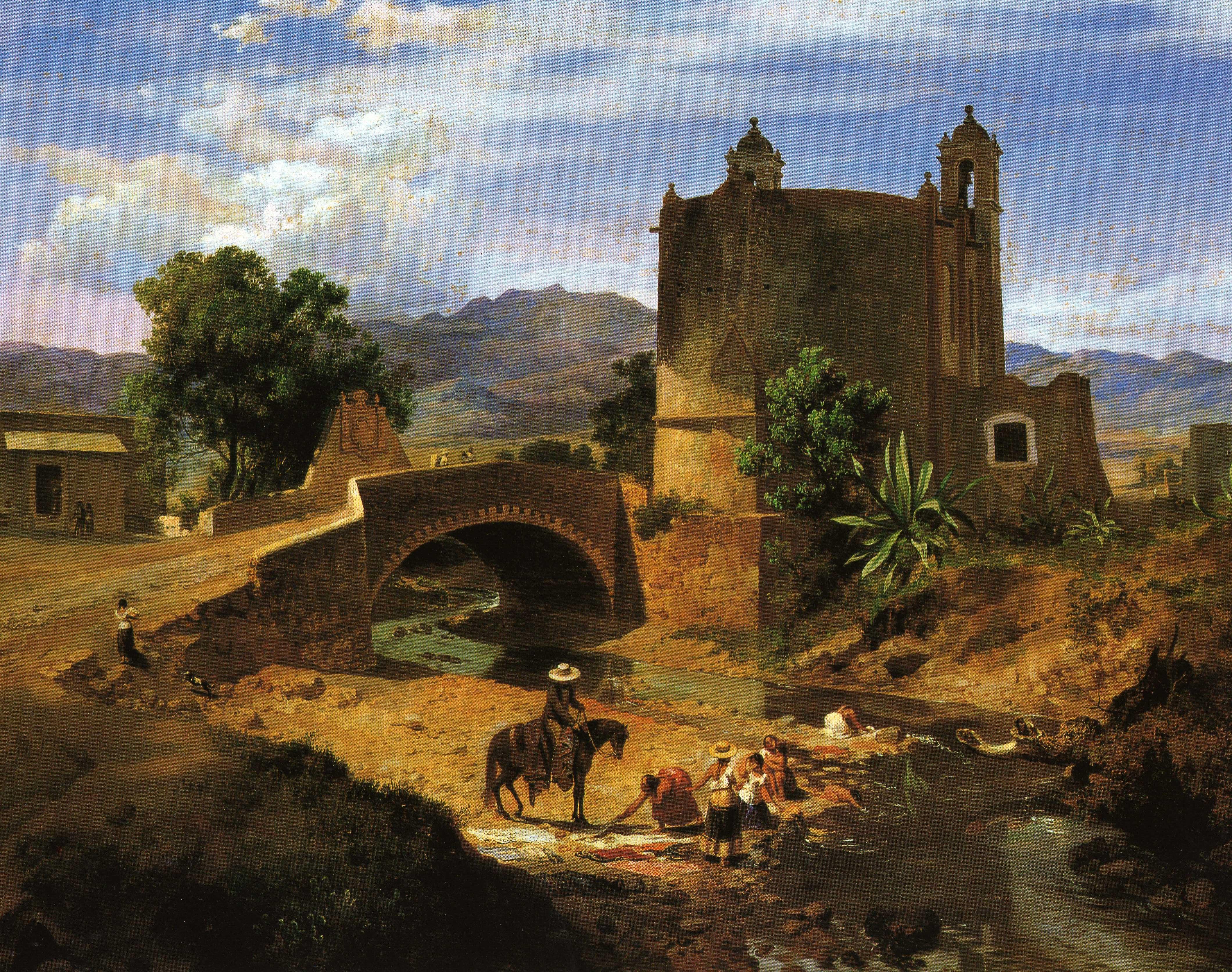 12. Eugenio Landesio, El puente de San Antonio en el camino a San A?ngel, 1855-MUNAL