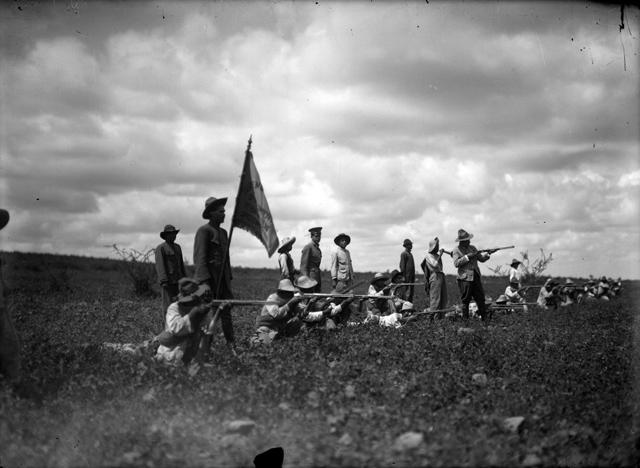 39253-Tropas constitucionalistas durante la batalla de Celaya