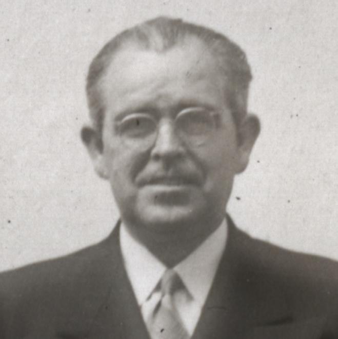 John Lloyd Mecham, retrato.