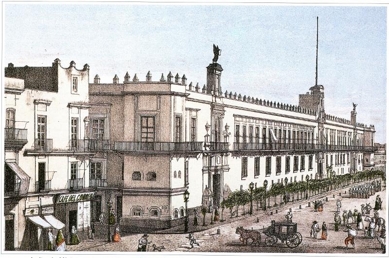 L. Garcés, Palacio Nacional, ca. 1855. Col. RAA.