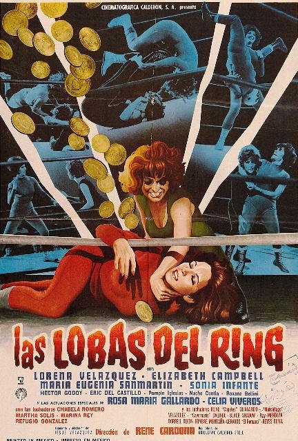 Las lobas del ring, cartel publicitario, MAi??xico, 1965. ColecciA?n particular.