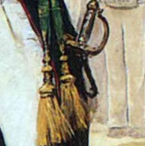 Natal Pesado, NicolA?A?s Bravo perdona a los prisioneros realistas, 1892 Palacio Nacional (299x300)