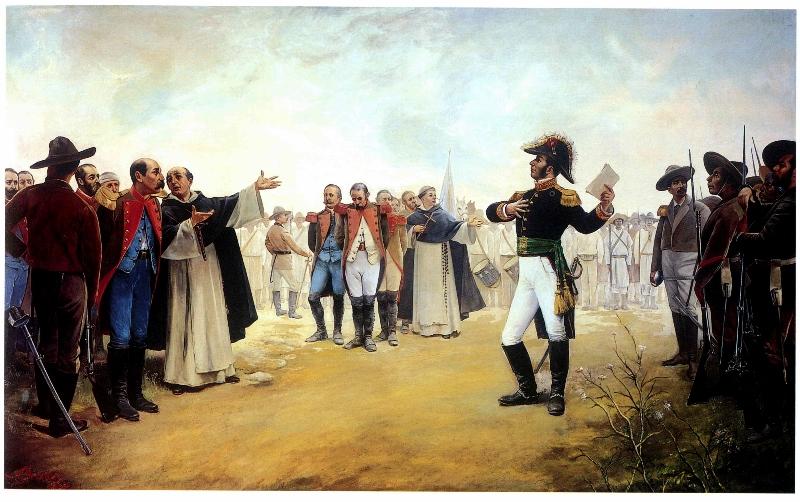 Natal Pesado, Nicolás Bravo perdona a los prisioneros realistas, 1892 Palacio Nacional (800x502)