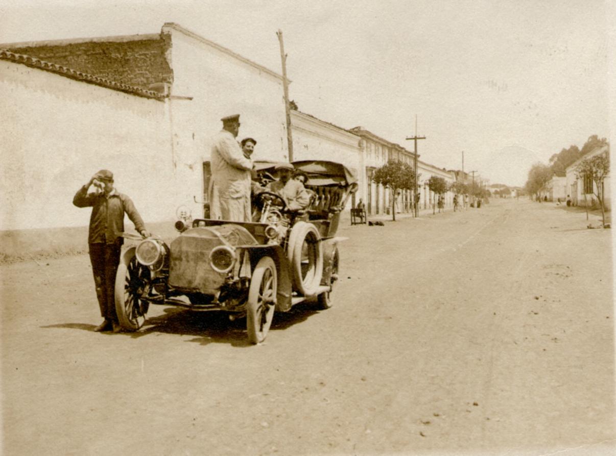 Probando un automóvil 1912q