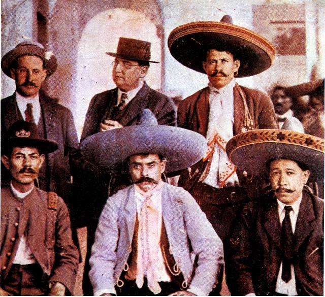Zapata antes de la visita de Villa en Xochimilco La Iustración Semanal, dciembre 1914 (640x585)