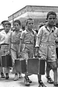 Llegada a México de los niños españoles
