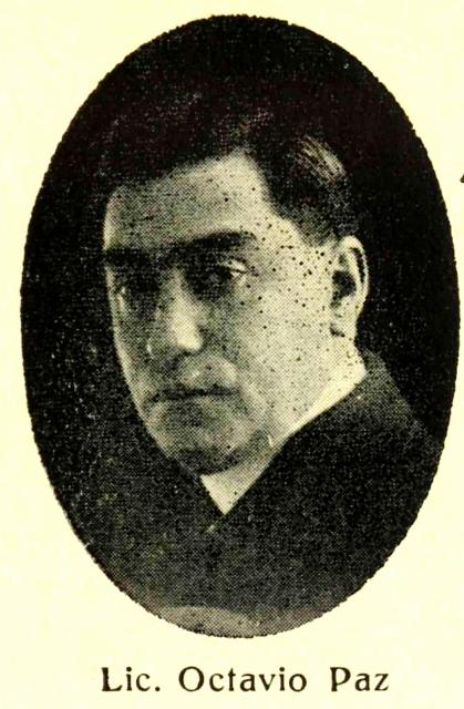 Ovtavio Paz Solorzano, tomado de Albúm a Juárez editado por el Lic. Octavio Paz, México, Imprenta Mundial, 1931 (419x640)
