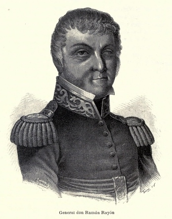 General RamA?n RayA?n, litografAi??a.