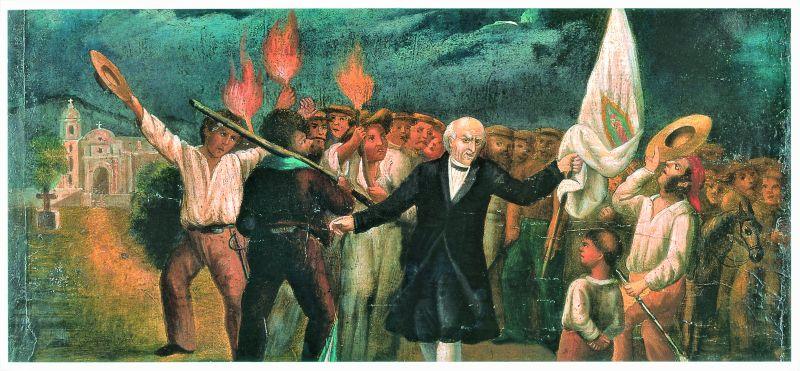 Grito de Dolores, siglo XIX, óleo sobre tela. Museo Histórico Casa de Hidalgo, Secretaría de Cultura-INAH-MéX. Reproducción autorizada por el INAH.