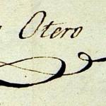 Firma de Mariano Otero