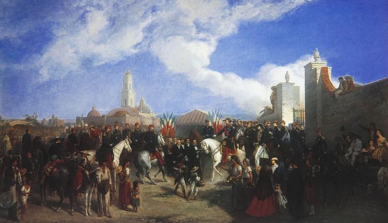 Jean-Adolphe Beaucé, Entrada del general Forey a la ciudad de México, 10 de junio de 1863. copia en el Museo Nacional de las Intervenciones. Secretaría de Cultura-INAH-Méx. Reproducción autorizada por el INAH