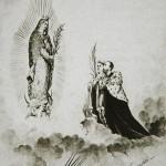 Alegoría de Maximiliano y Carlota frente a la virgen de Guadalupe, ca. 1865, inv. 451725, sinafo. Secretaría de Cultura-INAH-Méx. Reproducción autorizada por el INAH.