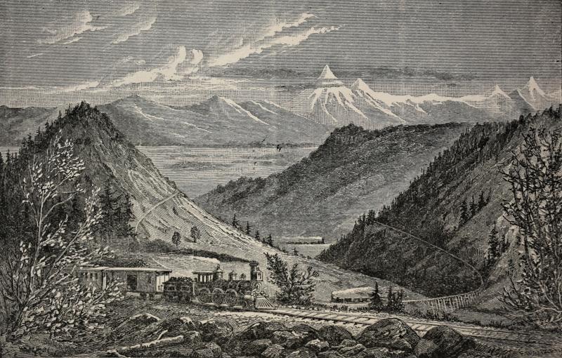 Adiós al valle del Anáhuac, en Alberto G. Bianchi, Los Estados Unidos, descripciones de viaje, México, N. Lugo Viña, 1887. Biblioteca Ernesto de la Torre Villar-Instituto Mora.