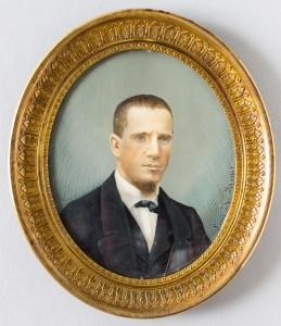Luis A. Reyes, Leandro Valle, acuarela sobre marfil, 1860, Museo Nacional de Historia. Secretaría de Cultura-INAH-Méx. Reproducción autorizada por el INAH.