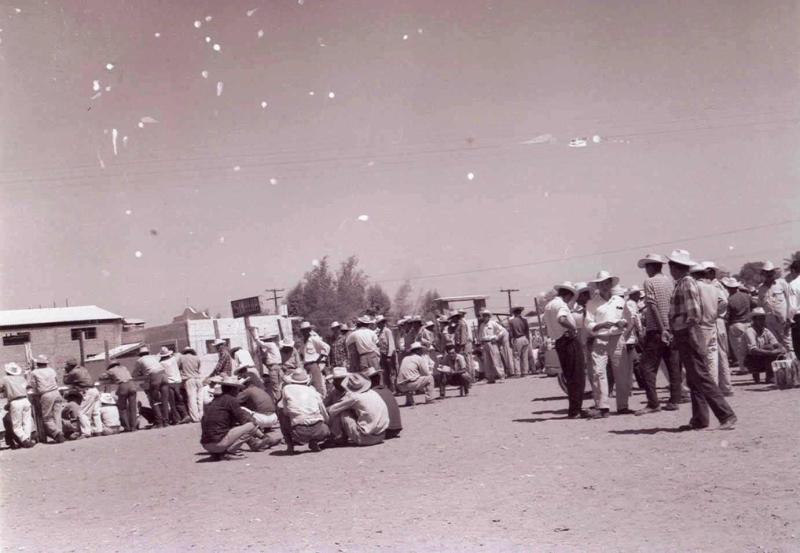 Braceros en Empalme. Colección particular de Hugo Gabriel Cruz Martínez, Universidad Autónoma de Sinaloa, Facultad de Historia.