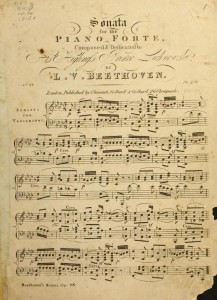 L. Van Beethoven, Sonata for the piano forte. Op: 26, Londres, [s. ed.] 1815. Boston Public Library